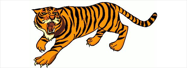roaring tiger clipart