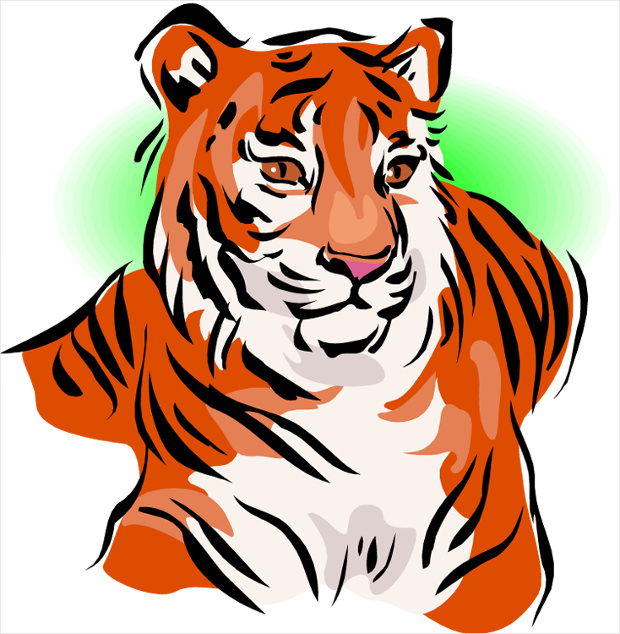 awesome tiger clipart