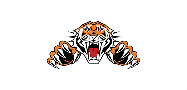 dangerous tiger clipart