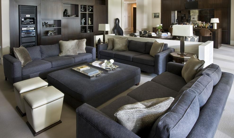 Solid Gray Sofa Designs