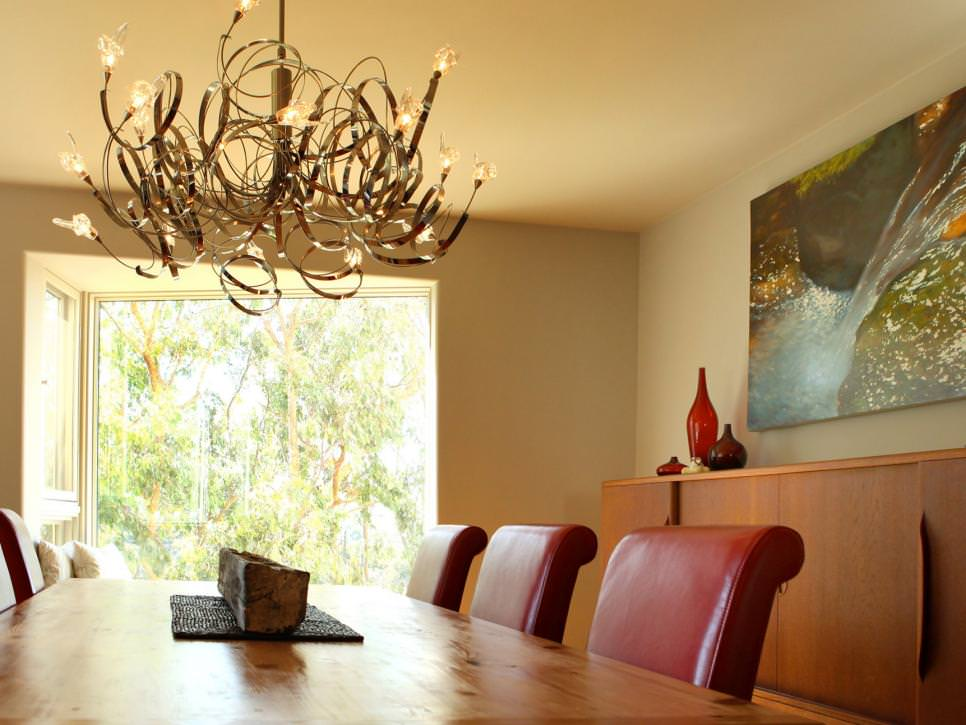 spiraling dining room chandelier