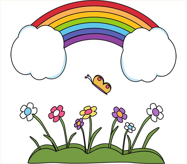 Scenic Rainbow Clipart