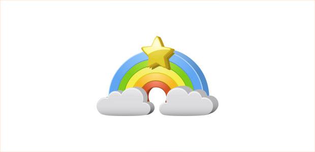 Cartoon Rainbow Clipart