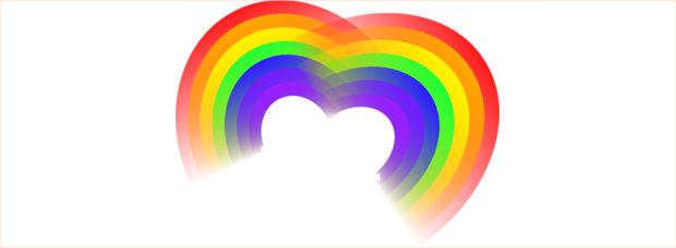 Heart shaped Rainbow Clipart