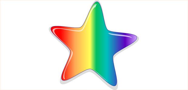star shaped clipart