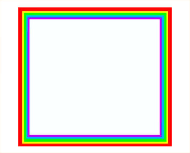 Square shaped Rainbow