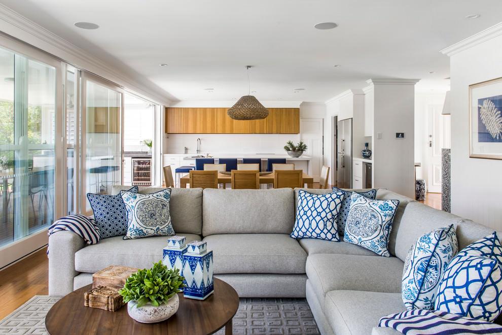 Soft Corner Gray Sofa Design
