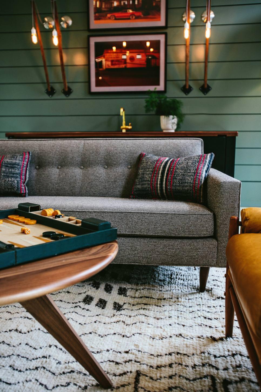 Retro Gray Sofa Design