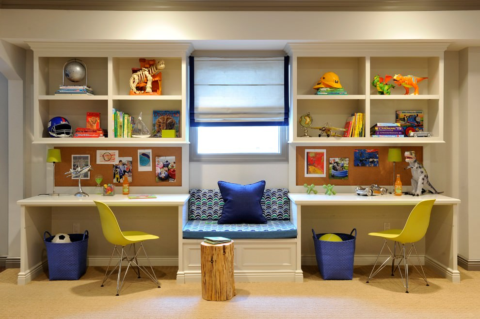 Transitional Kids Desk Design