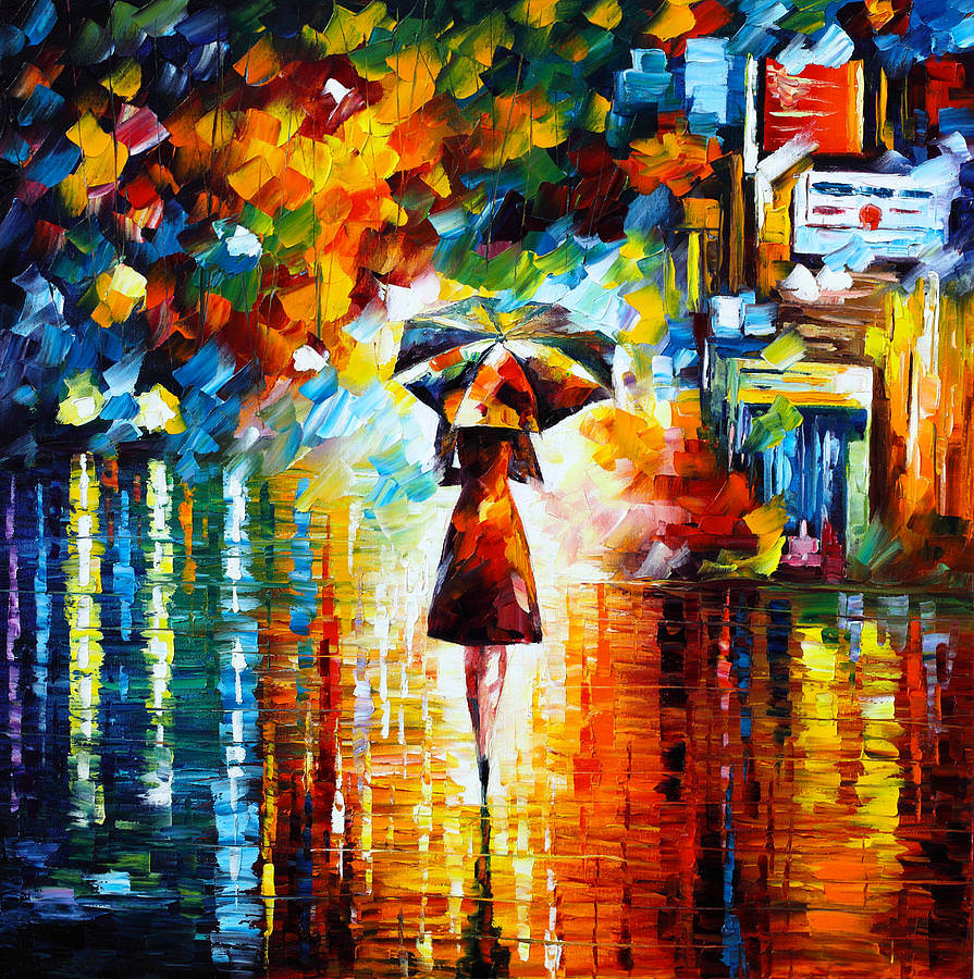 Rain Princess Beautiful Painting