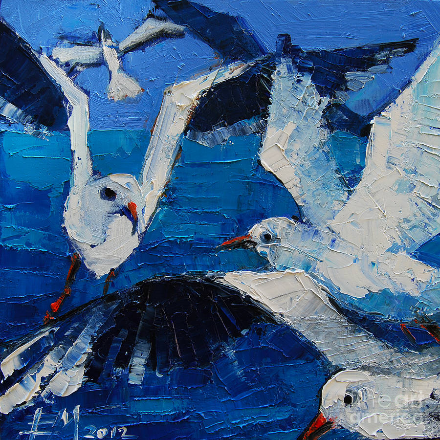 The Seagulls Painting