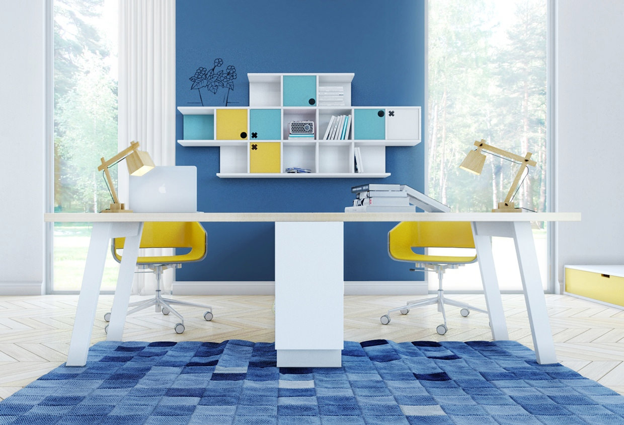 Blue Kids Room Interior Design