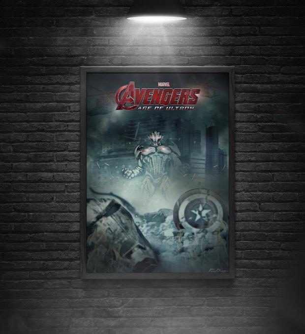 avengers movie poster mockup
