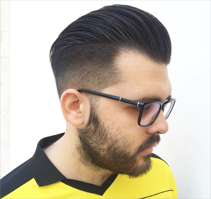 Cool Black Faded Haircut For Men