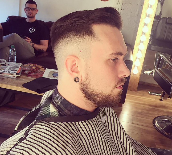 Top Flat Fade Haircut For Men