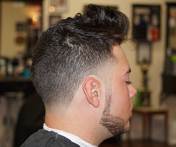 Mid High Fade Haircut Idea