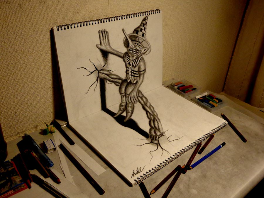 awesome pencil drawing of 3d1