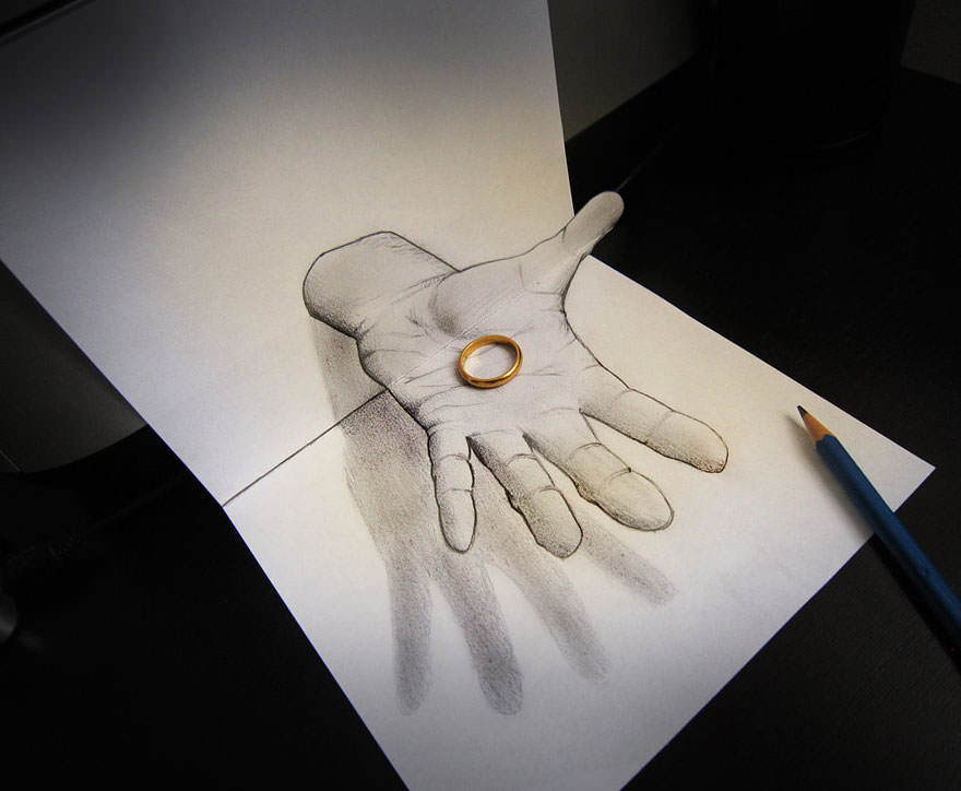 Hand Drawing of Pencil