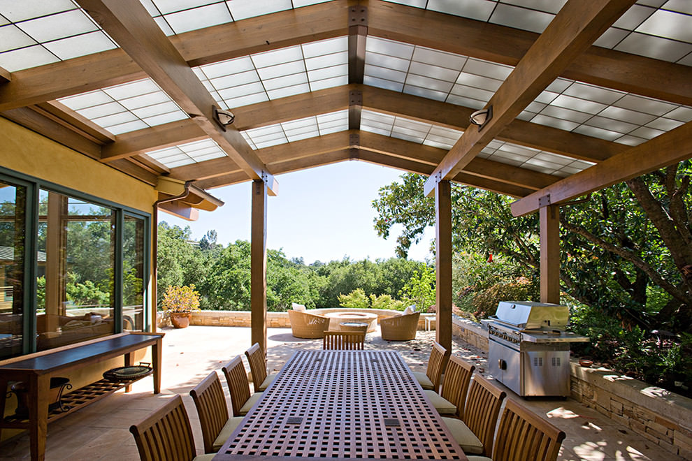24 patio roof designs ideas plans design trends for Patio roof plans