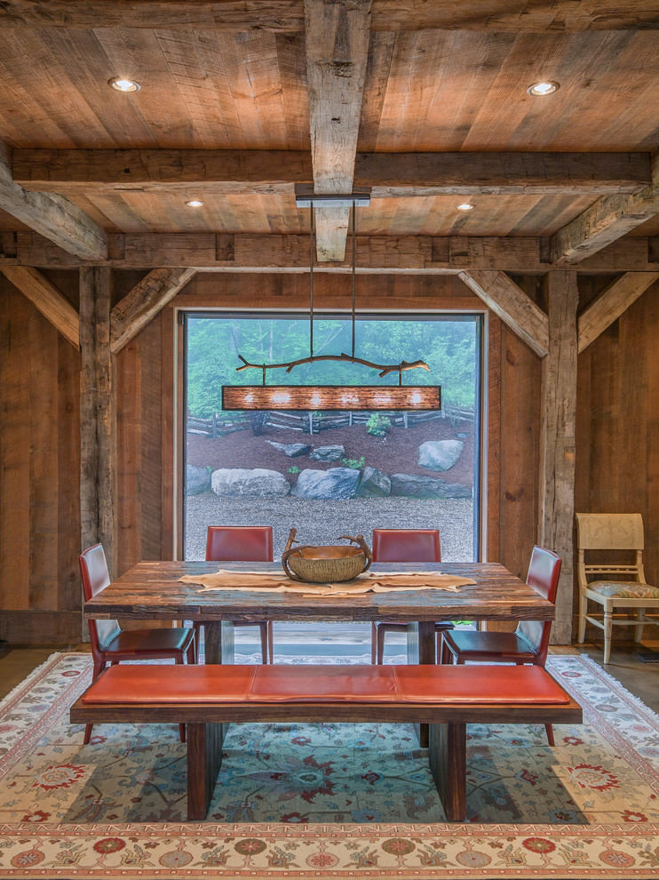 hardwood rustic bench design1