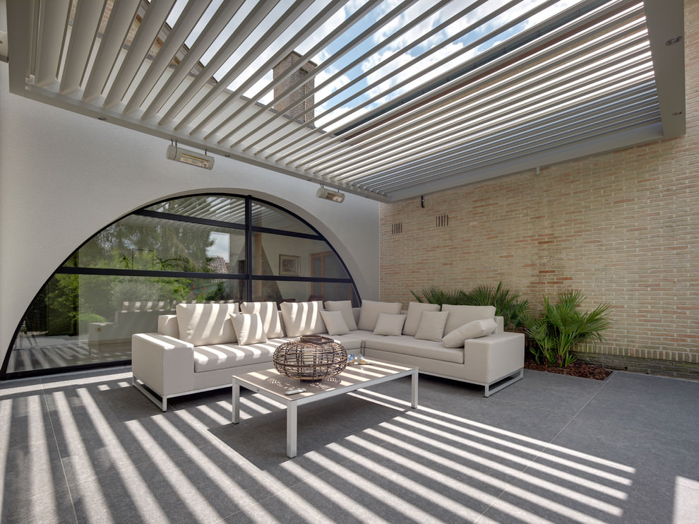 White Patio Roof Design