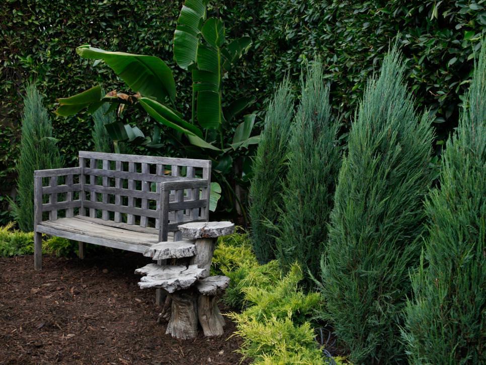 grey rustic bench design1