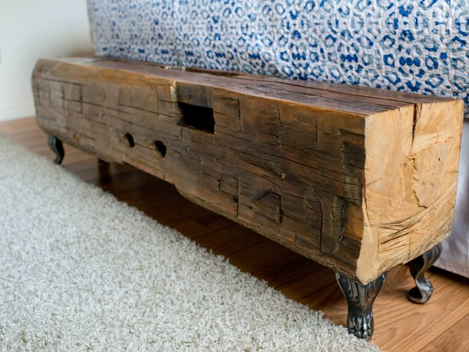 Vintage Wooden Rustic Bench Design