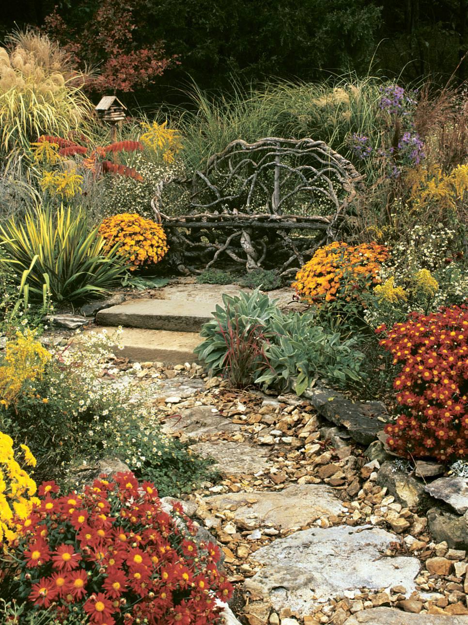 garden rustic bench design8