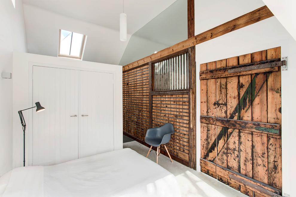 wooden rustic bedroom interior design