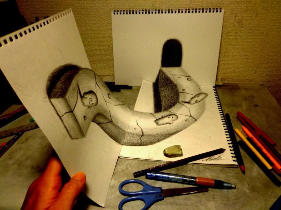 Traditional 3d Pencil Drawing