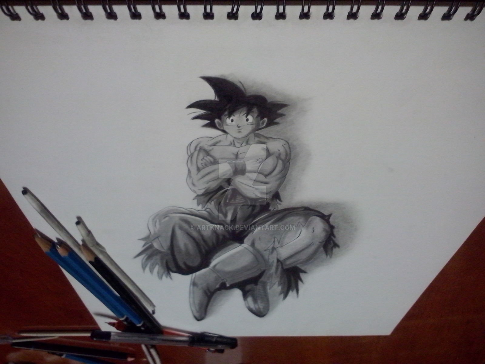 Fabulas goku 3d pencil drawing