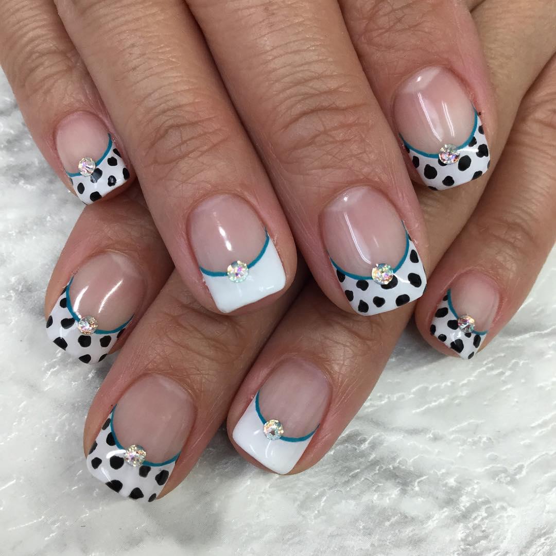 Stone Animal Nail Design
