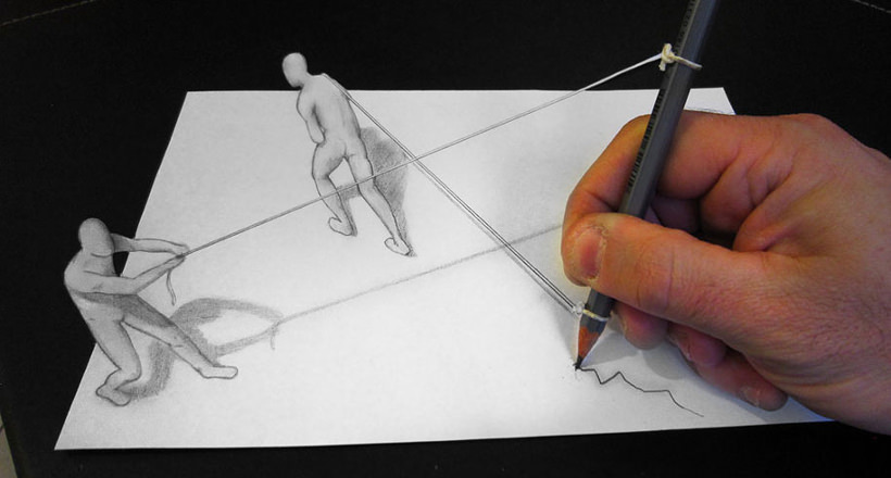 27 3D Pencil Drawings Art Ideas