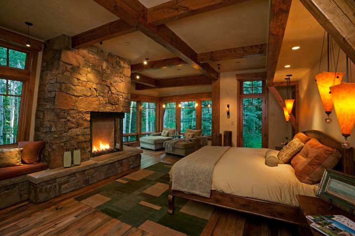 unpolished rustic bedroom interior design