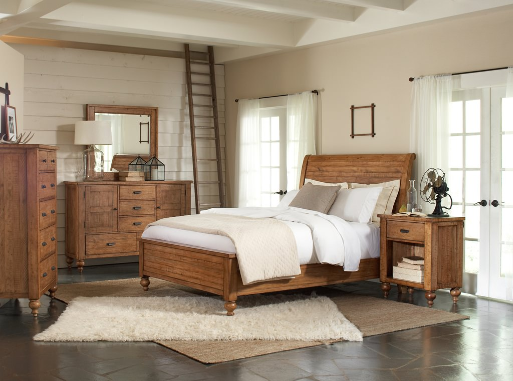 Flat Rustic Bedroom Design