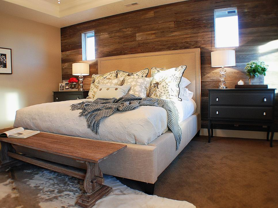 Wood Wall Rustic Bedroom Interior