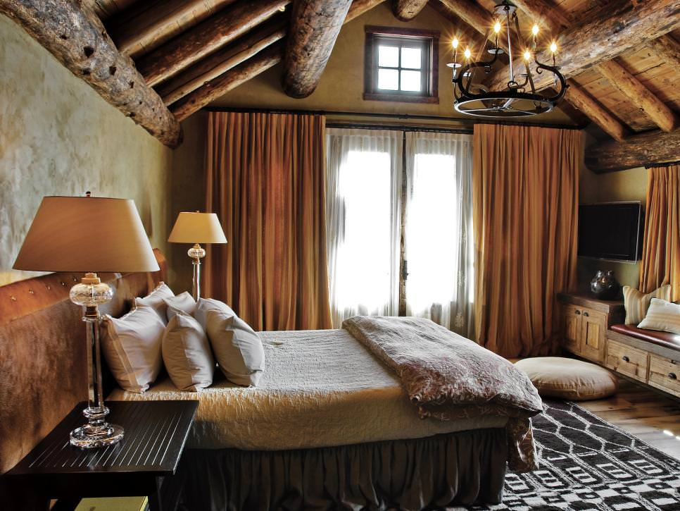 Dramatic Rustic Bedroom Design