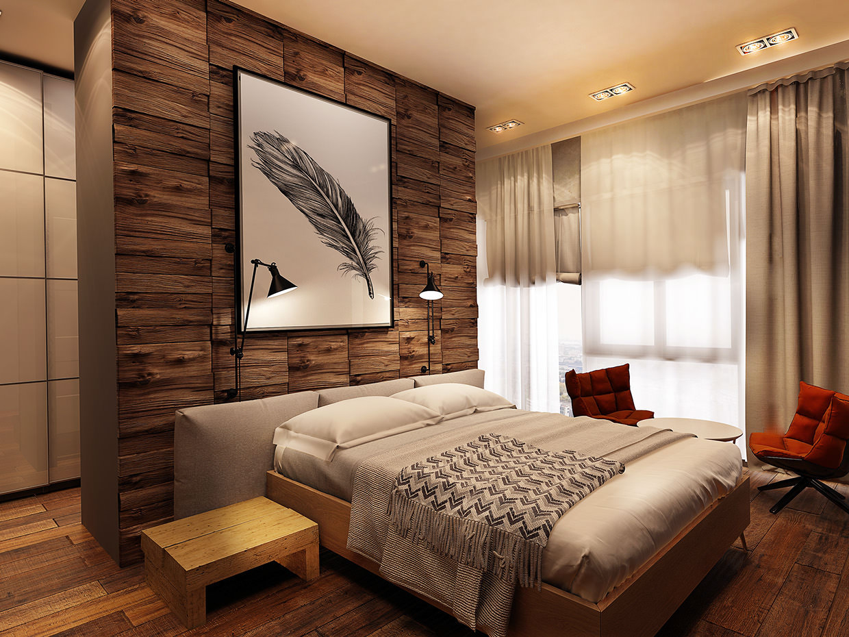 Decorative Rustic Bedroom Design