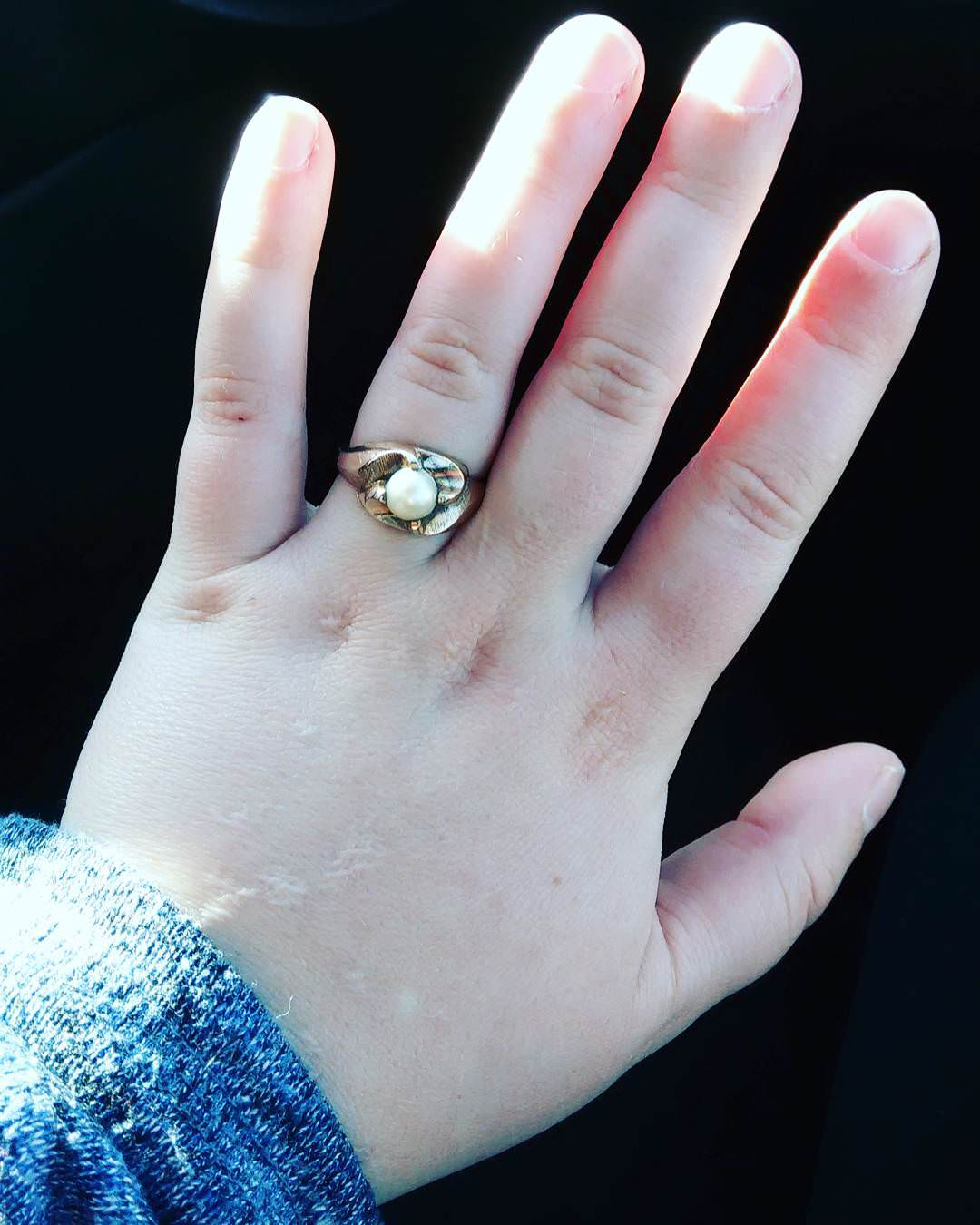 Antique Wedding Pearl Ring