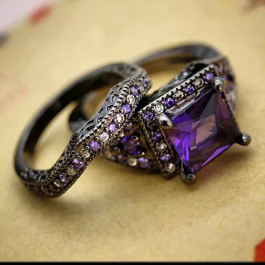 25 purple wedding ring designs trends models design