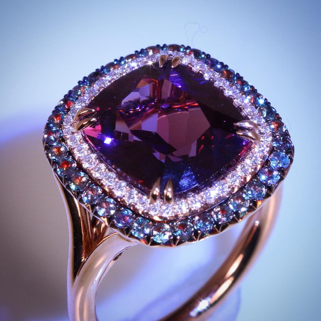 attractive purple wedding ring