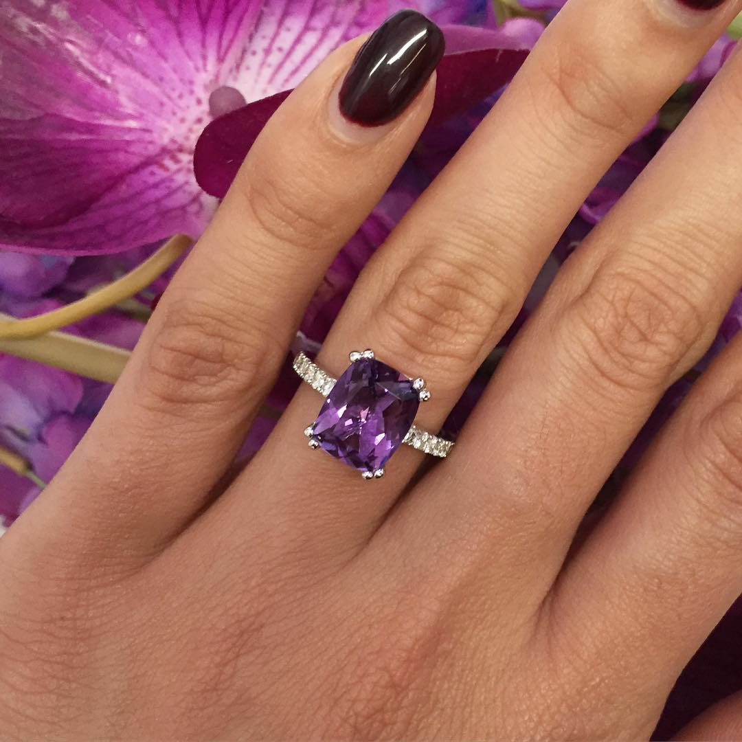 cute purple ring