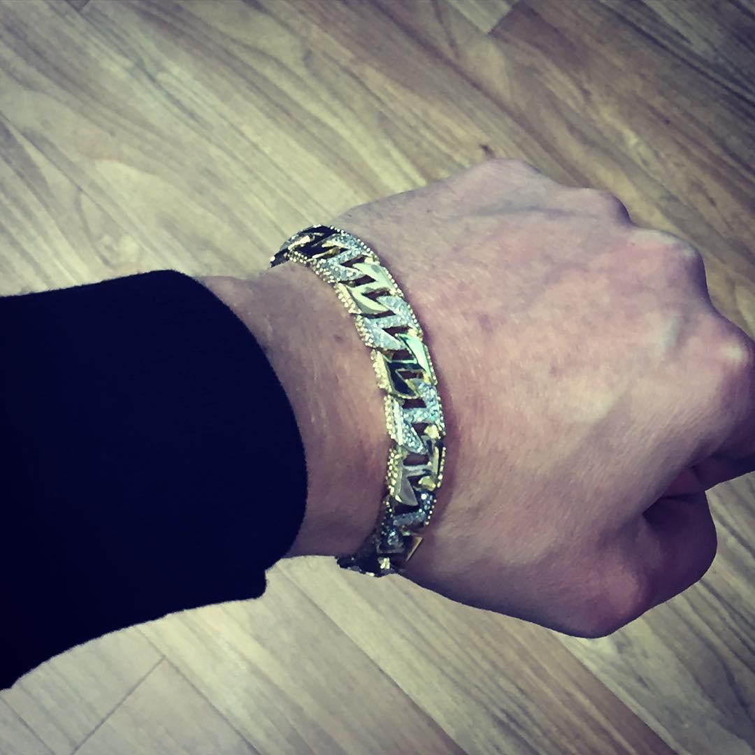 Solid Gold Stone Set Bracelet