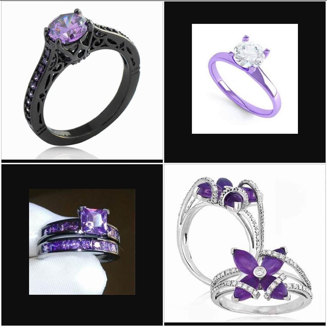 designed purple rings