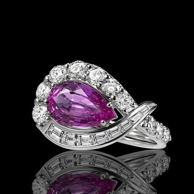 platinum purple ring
