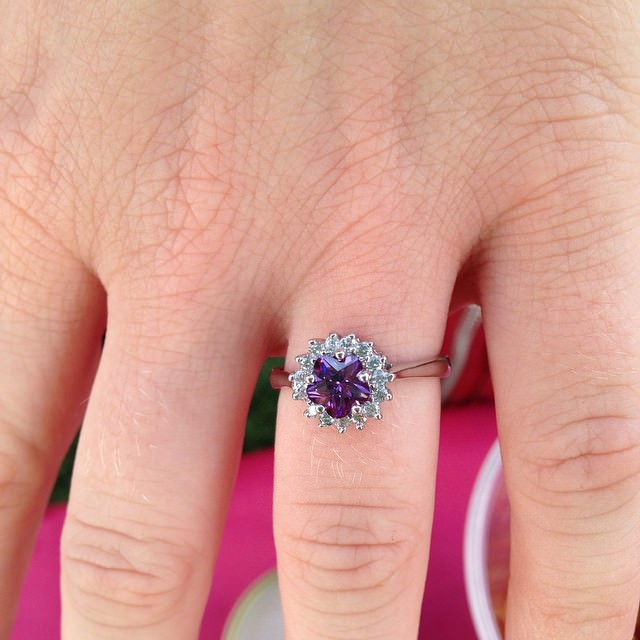 cute purple wedding ring