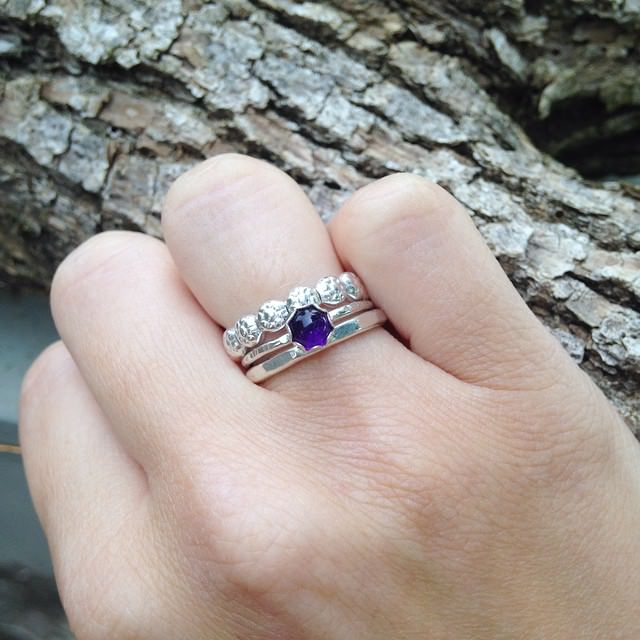 purple diamond wedding ring