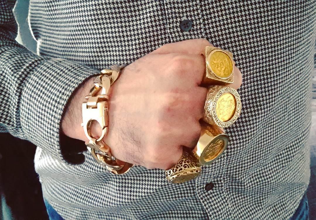 Gold solid Bracelet