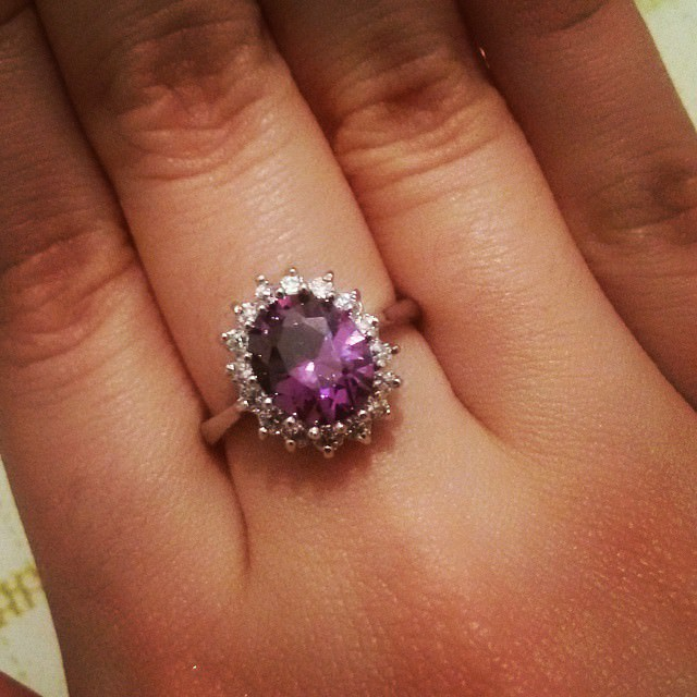 shiny purple ring