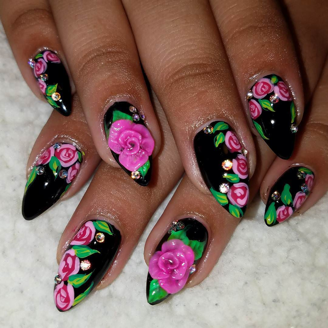 Beautiful 3D Nail Art Design